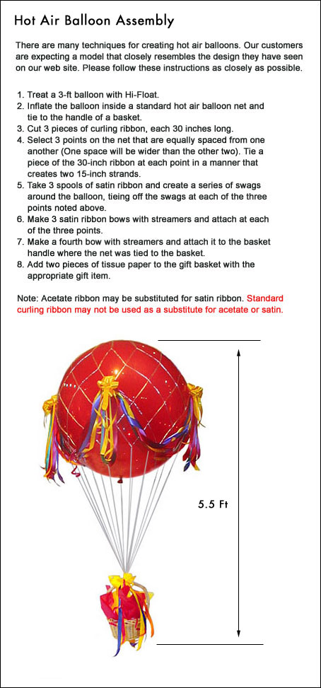 hot air instructions